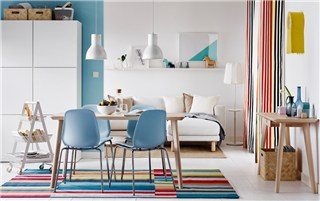 Get color happy in cool Scandi style