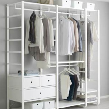 Open clothes & shoes storage