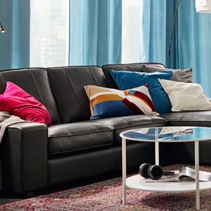 Leather & faux leather sofas