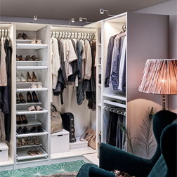 Open clothes & shoe storage system