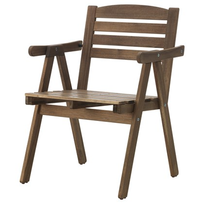 FALHOLMEN Armchair, outdoor Gray-brown stained