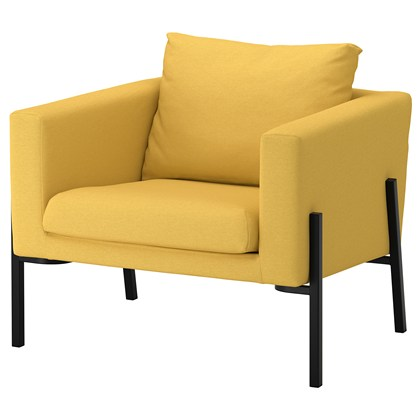 Armchair KOALA Golden-yellow, black