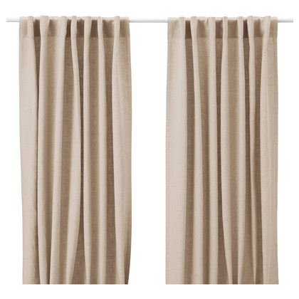 AINA Curtains 1 pair, gray beige