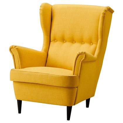 Wing chair YOKOMAN Golden-yellow