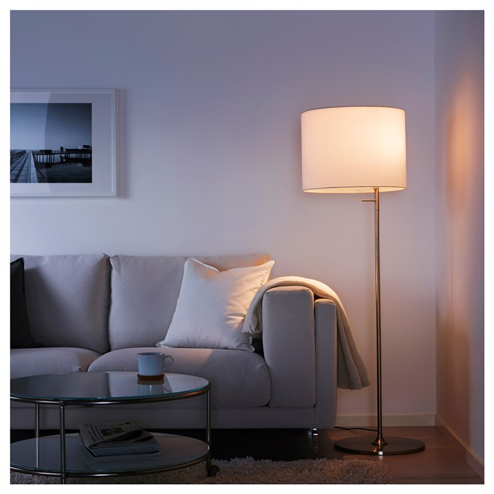 With LED bulb, white