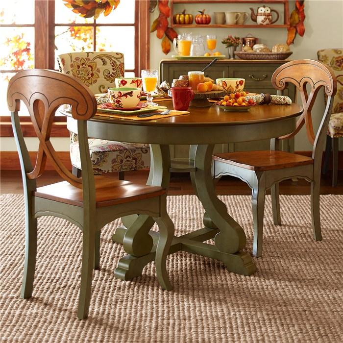 Marca Round Dining Table Sage Brown, Pier One Dining Room Tables