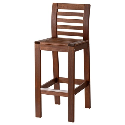 APPLARO Bar stool with backrest