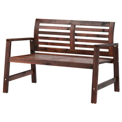 APPLARO Bench with backrest