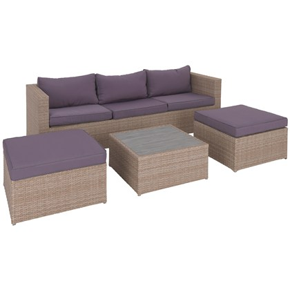 CORUNA Outdoor set 5 seats + stool