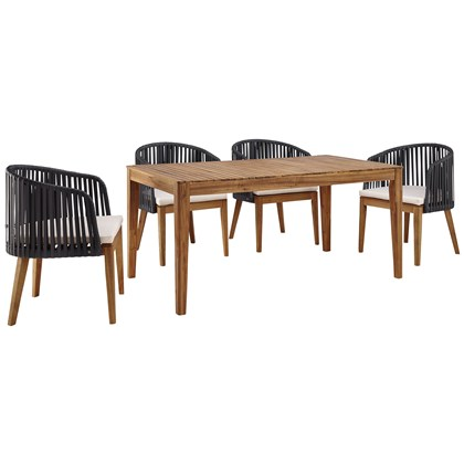 VICTORIA Table + 4 chairs, Outdoor