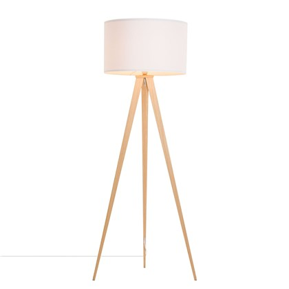TRIPOVER Floor lamp White, beech