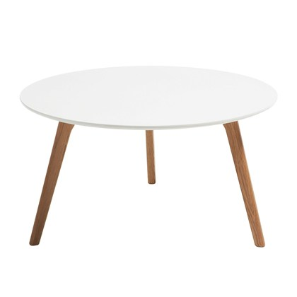 BERGBY Coffee table White, Oak