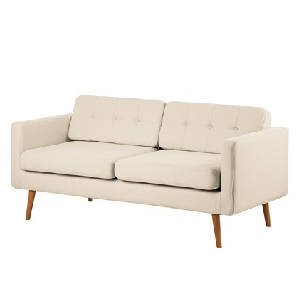 GOOGLE Sofa, 3 seats Beige gray, Oak legs