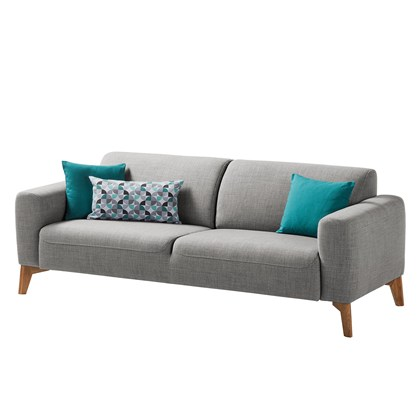 MILAN Sofa, 3 seats Gray, oak legs