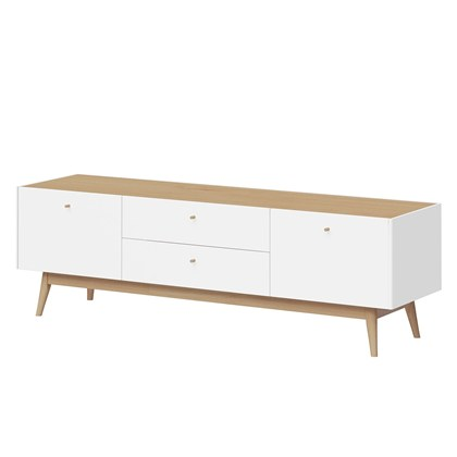 MONTEO TV unit White, Oak