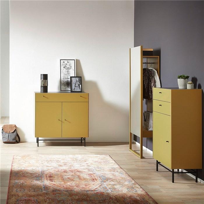 Olive Yellow, Steel legs