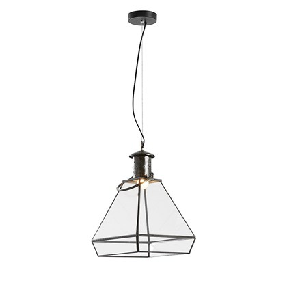 DECOSY Pendant lamp Black, metal, glass