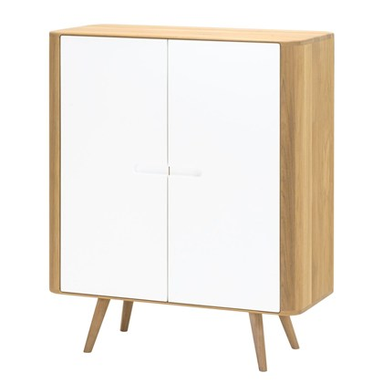 LOCA Storage cabinet White, oak brown
