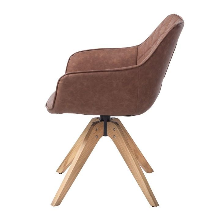 Medium Brown, oak legs