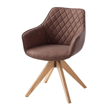 PORI Armchair Medium Brown, oak legs