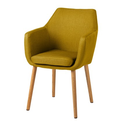 NICHOLAS Armchair Yellow, oak legs