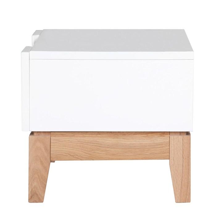 White / Oak, 1 drawer