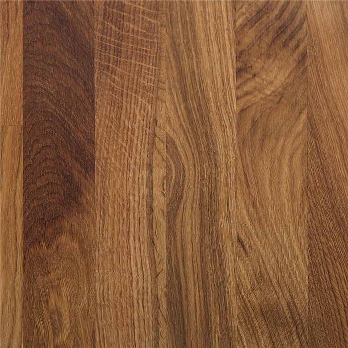 Brown stained, solid oak