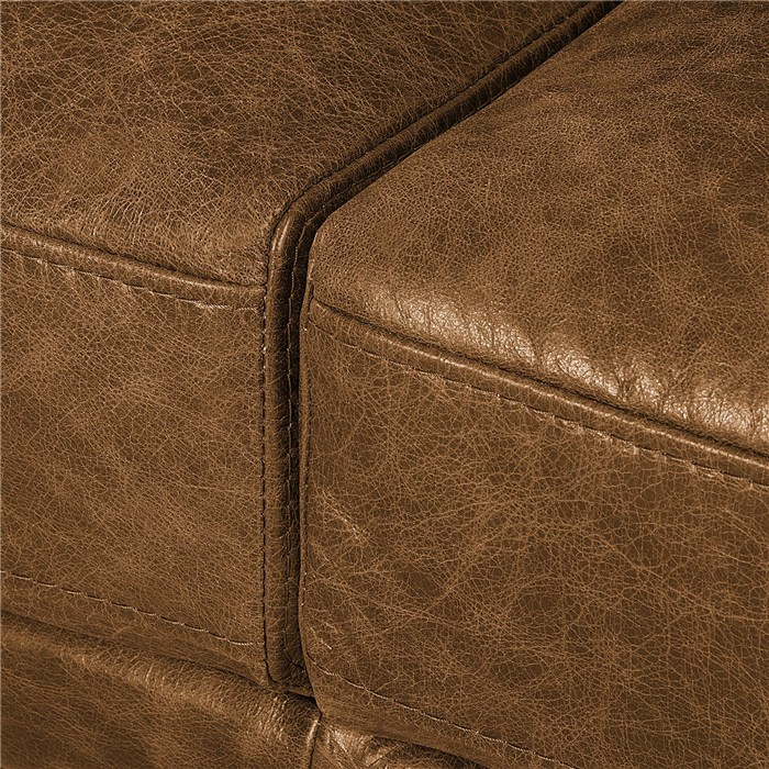 Brown, genuine leather