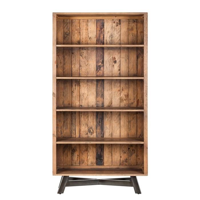 Solid wood pine, metal legs