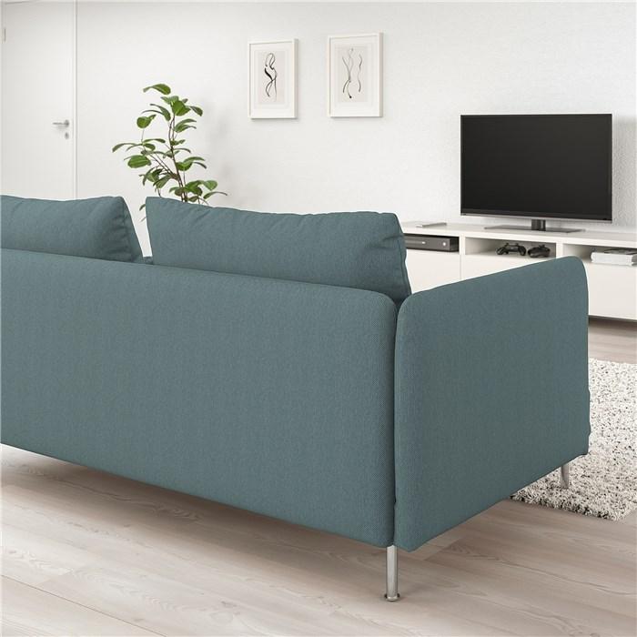 Light green - turquoise, metal legs