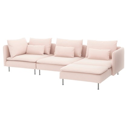 SÖDERHAMN Sectional, 4-seat, with chaise