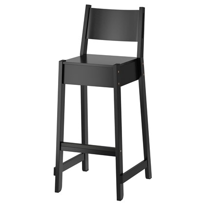 NORRÅKER Bar stool with backrest