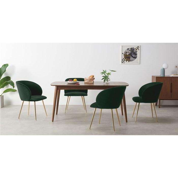 Pine green velvet and brass