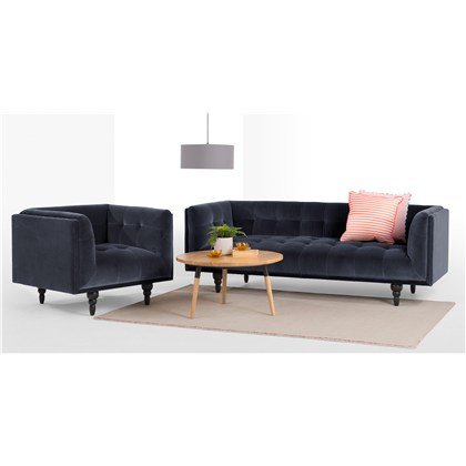 CONNER 3 seats sofa, cotton velvet
