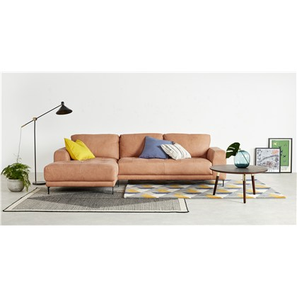 LUCIANO left hand facing corner sofa, leather