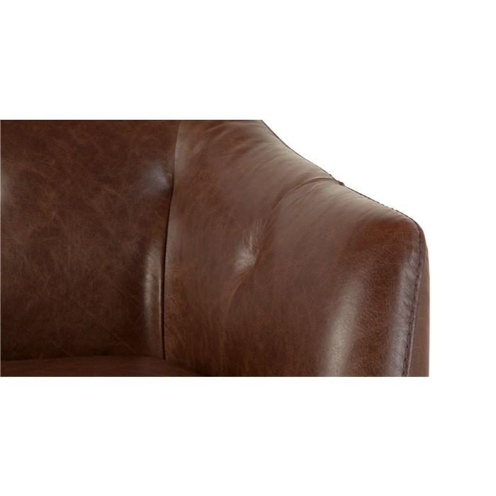Antique cognac leather