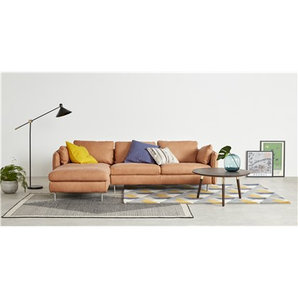 VENTO left hand facing chaise end corner sofa, premium leather