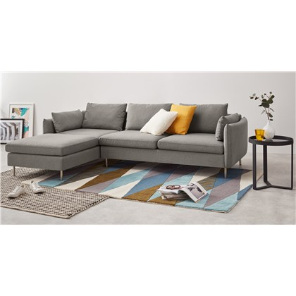 VENTO 3 seats left facing chaise end corner sofa