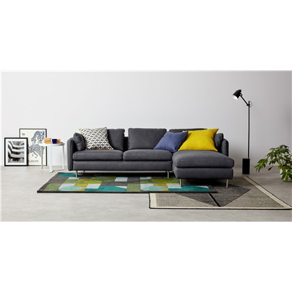 VENTO right hand facing chaise end corner sofa, premium leather