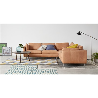 VENTO 5 seats corner sofa, premium leather
