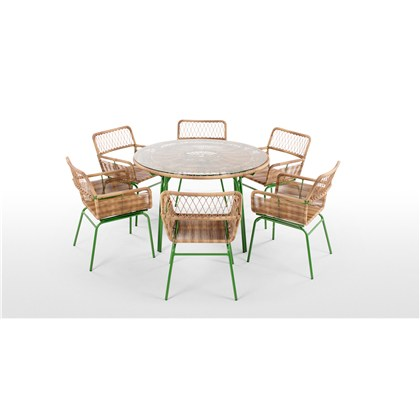 LYRA garden 6 seats dining table