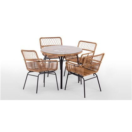 LYRA garden 4 seats round dining table