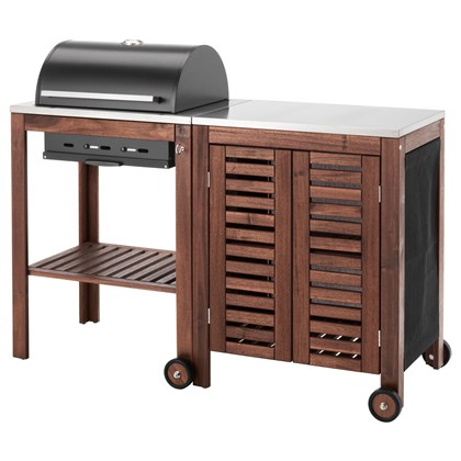 APPLARO AND KLASEN charcoal grill with cabinet