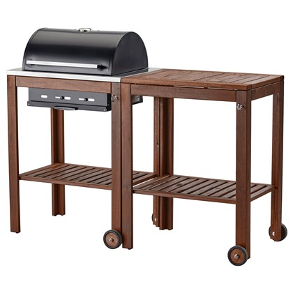 APPLARO AND KLASEN charcoal grill with cart