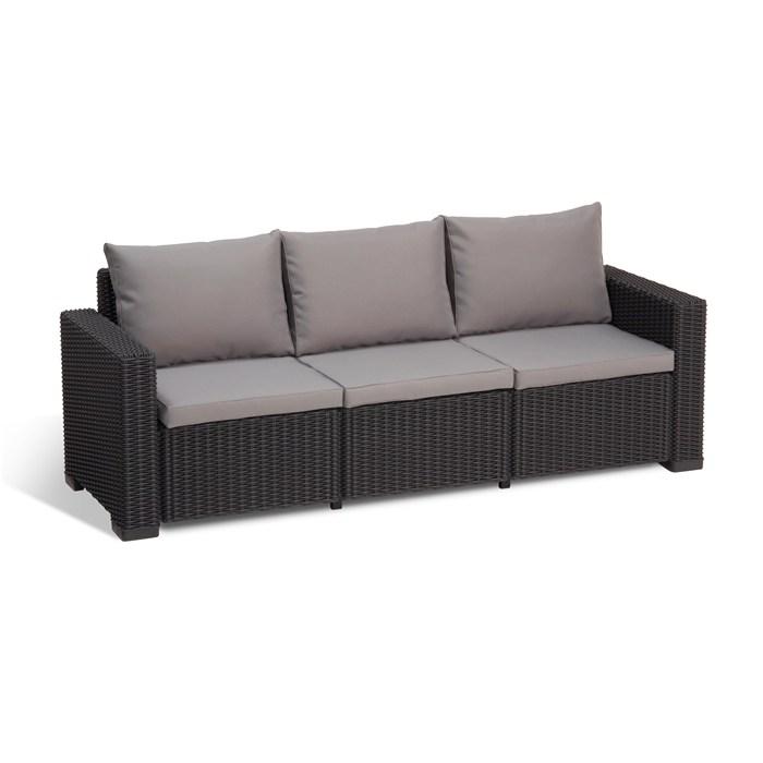 Polyrattan,5 seats sofa, black.