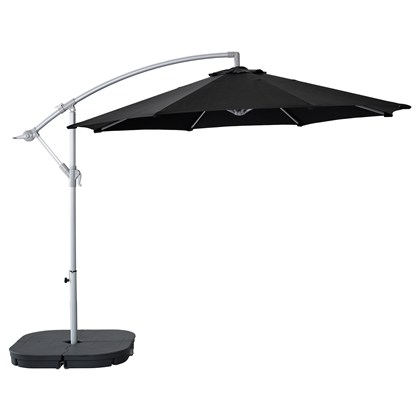 KARLSO AND SVARTO hanging umbrella with base