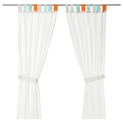 HIMMELSK curtains with tie-backs