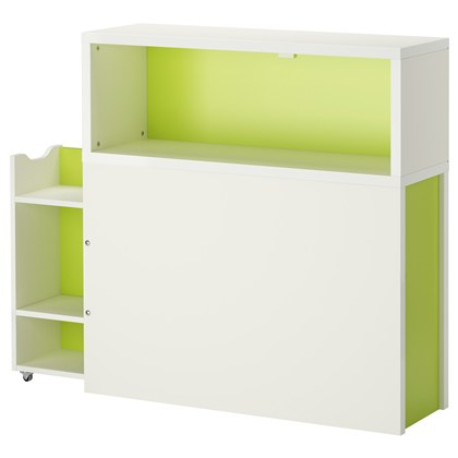 FLAXA headboard with storage compartment