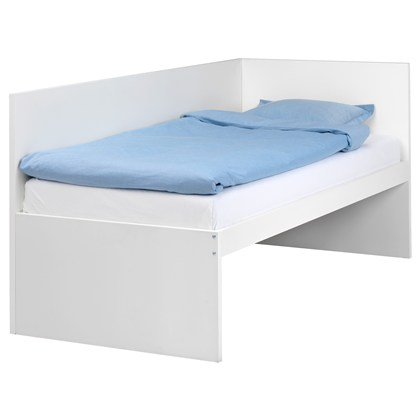 FLAXA bed frame with headboard and slatted bedbase