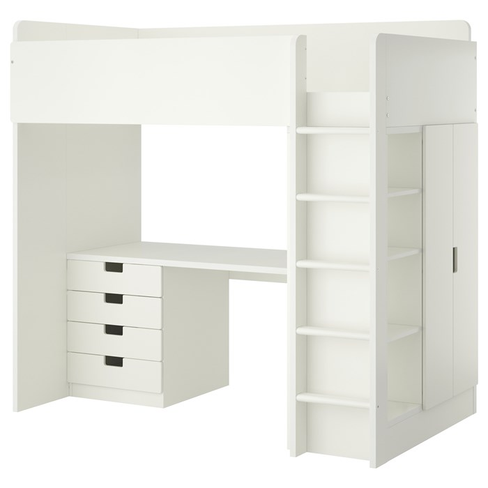 White frame - white drawers and doors